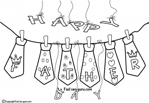fathers day coloring pages of ties | 1000+ images about Mother's/Father's Day theme on ...