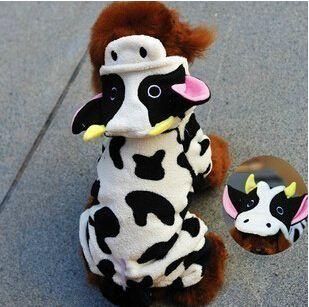 New White vaca trajes de inverno para cães filhote de cachorro pequeno animais CQ212A Dachshund Pitbull de estimação gato roupas acessórios produtos