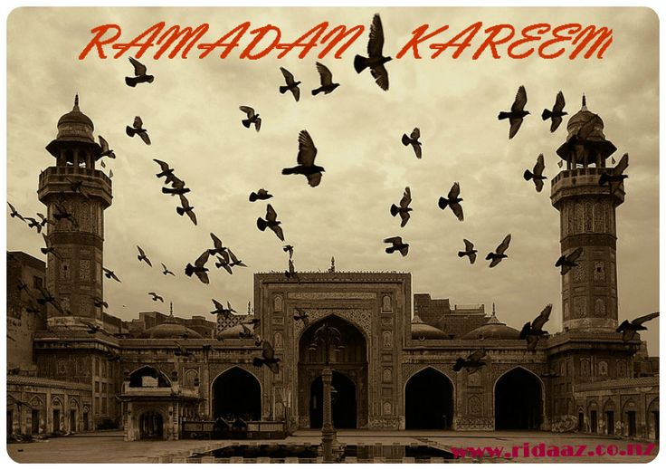 Ramadan Kareem to all the muslims out here! from Ridaa'z www.ridaaz.co.nz