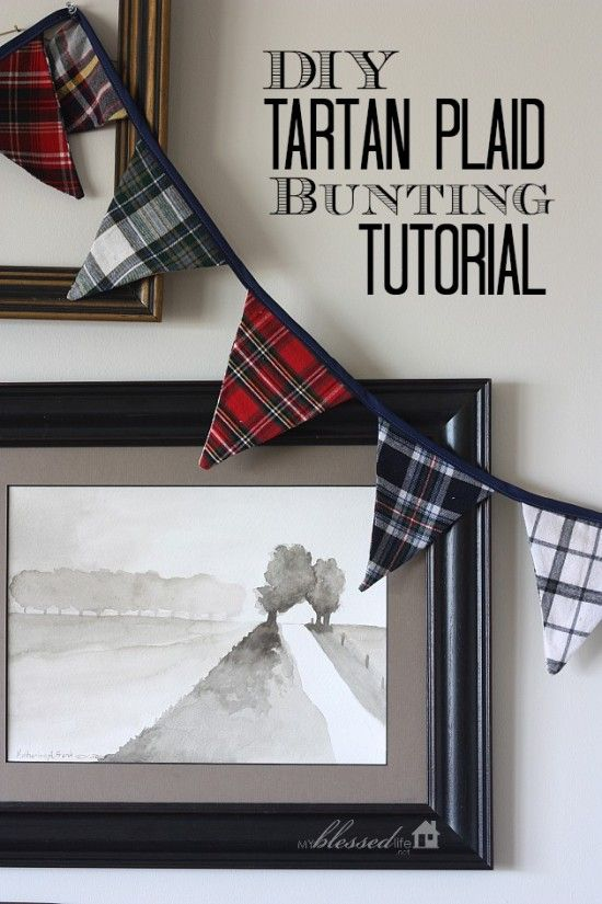 Tartan #Plaid Bunting Tutorial - Plaid Tidings of Great Joy - The Coconut Head's Survival Guide
