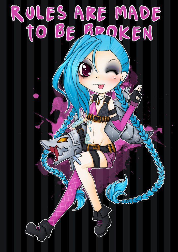 Chibi Jinx! - League of legends by linkitty.deviantart.com on @deviantART