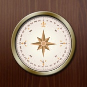 Compass-HD  By Chris Oklota    The best integrated compass and map app for the iPad! Beautiful graphics and functional design make this the compass app to have and show off on your iPad.