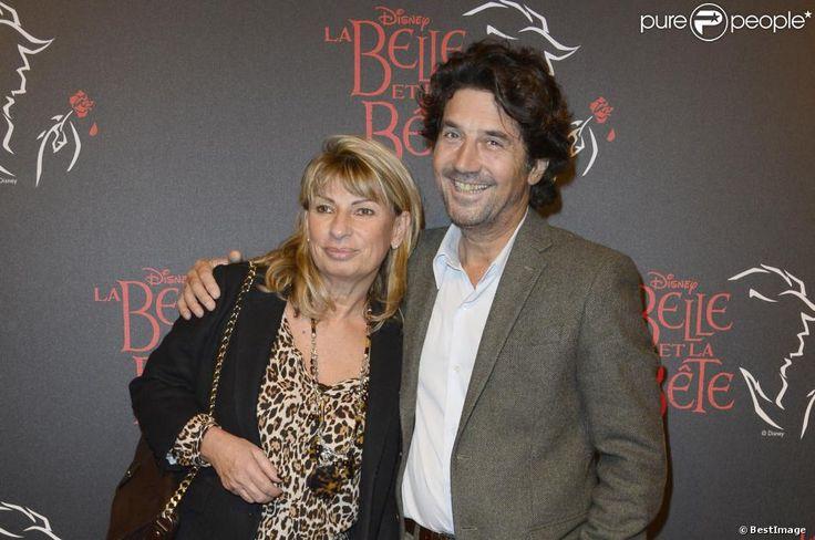 """Bruno Madinier et sa femme Camille - Générale de la comédie musicale """"La Belle et la Bête"""" au Théâtre Mogador à Paris le 24 octobre 2013."""