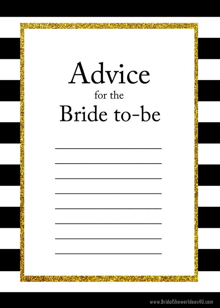 FREE Printable Advice for the Bride To Be Cards, Bridal Shower Ideas on Decorations, Themes, Bridal Shower Favors and Games, FREE Printable Bridal Shower Games, Printable Favors