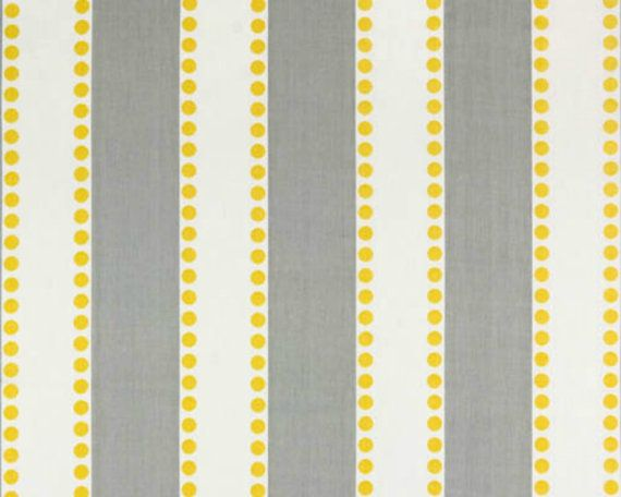 Yellow and gray striped fabric