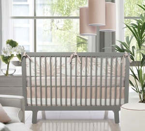 Love This 3 Pc Crib Set In Blush By My Urban Child It Would Be For My Urban Grand Daughter Modern Baby Bedding Crib Bedding Cribs