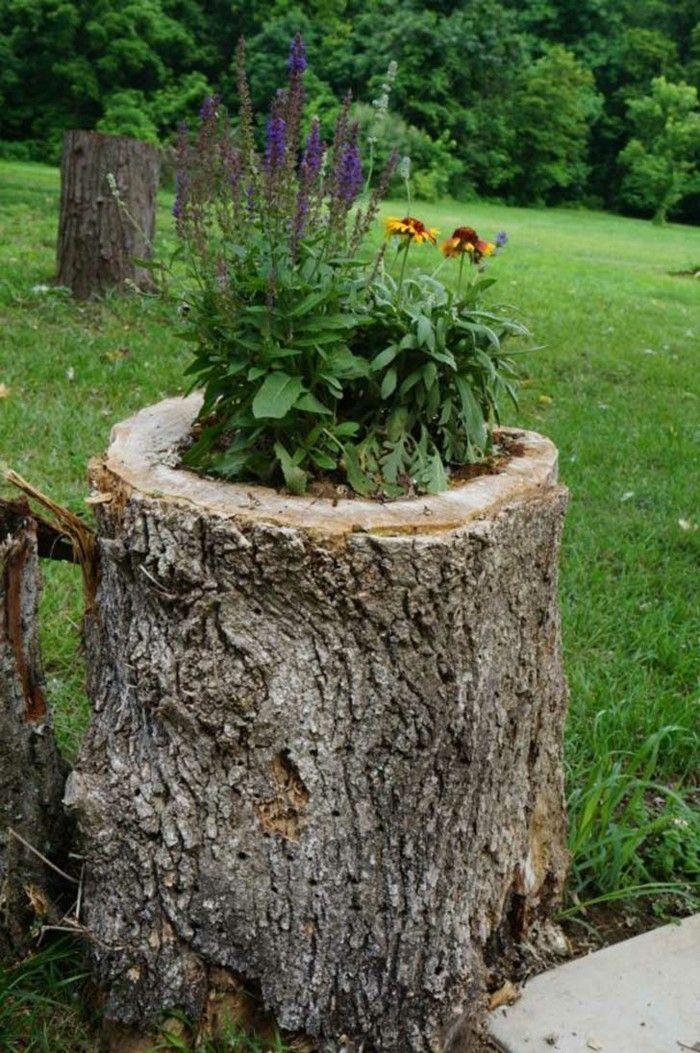Gartendeko Basteln Naturmaterialien 35 Beispiele Wie Sie Den Garten Aufpeppen Garten Deko Selber Machen Garten Pflanzen