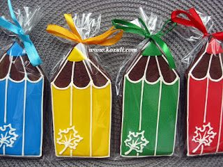 Пряники на 1 сентября или на выпускной Цветные карандаши 13х6см. Имбирные пряники на 1 сентября, на выпускной, фото