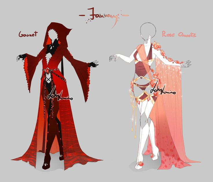 Outfit design - Birthstones - January - closed by LotusLumino on DeviantArt