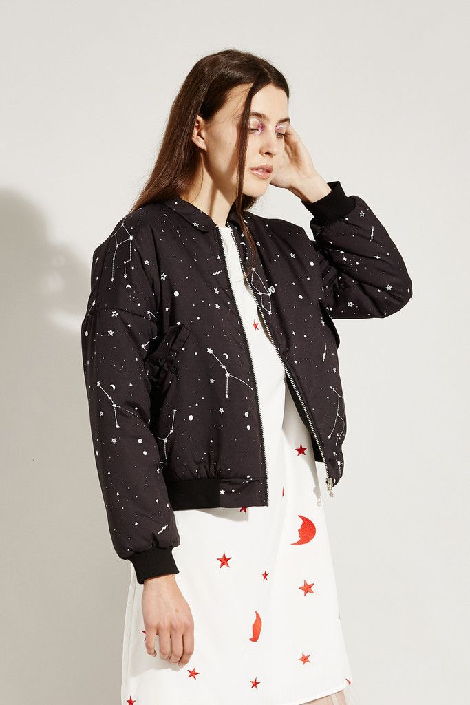 Constellation Print Bomber - £68.00  http://www.thewhitepepper.com/collections/new-in/products/bomber-jacket-constellation-print