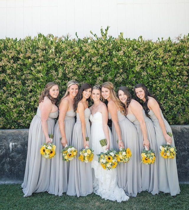 Yellow Themed Vineyard Wedding