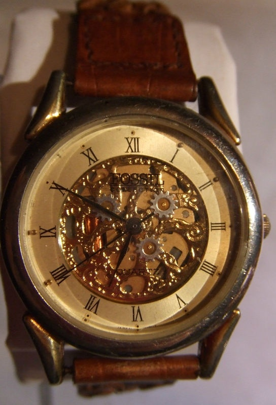 Women S Vintage Fossil Skeleton Quartz Watch Vintage
