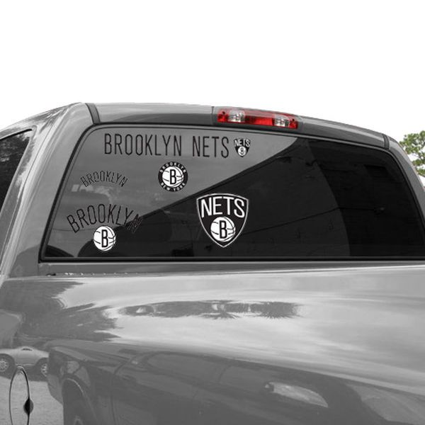 Brooklyn Nets 11'' x 17'' Ultra Decal Window Clings Sheet - $9.99
