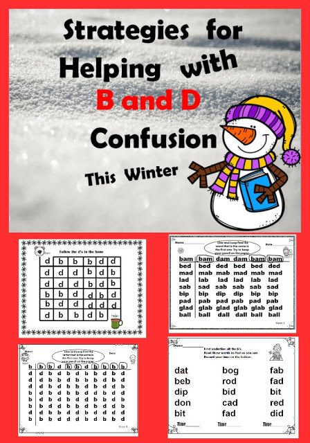 B and D reversals and confusion are so common in beginning readers and writers. Here's some activities and strategies for this winter that will help correct these errors in struggling readers and students with dyslexia.