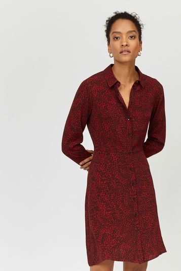 eabe411b3ca Leopard print mini shirt dress in 2019