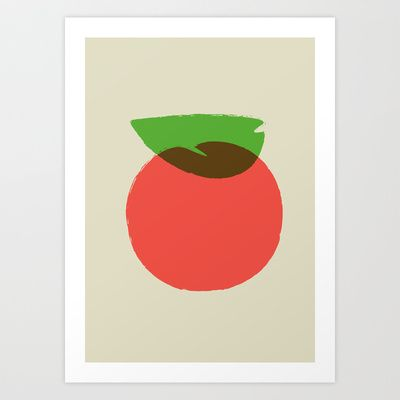 Apple 24 Art Print by Rhett