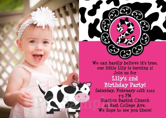 Cow Birthday Invitation Cow Birthday Party by CutiesTieDyeBoutique, $15.00