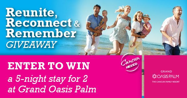Check out the latest giveaway at Oasis Hotels & Resorts and Win a 5 Night…