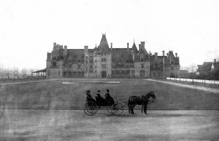 In the beginning: Biltmore House, vintage shot