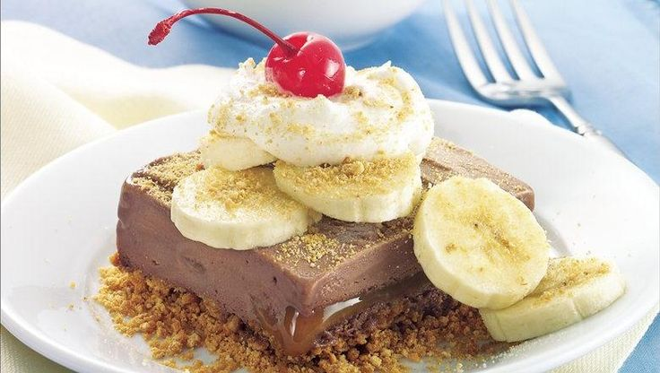 Chocolate-Banana Frozen Squares