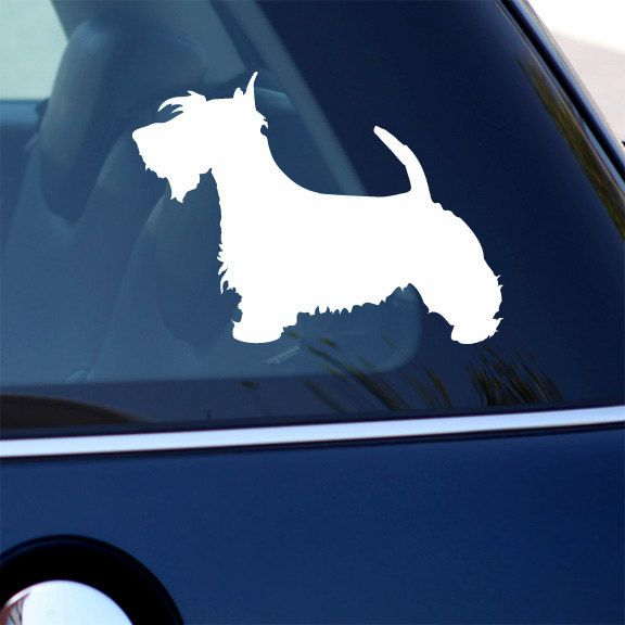 Scottish Terrier Decal Dog Vinyl Sticker For Car by urbandecal