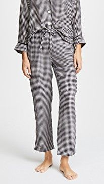 New Sleepy Jones Silk Marina Gingham Pajama Pants online. Find the  great PAIGE Clothing from top store. Sku cfxd10067flkh60821