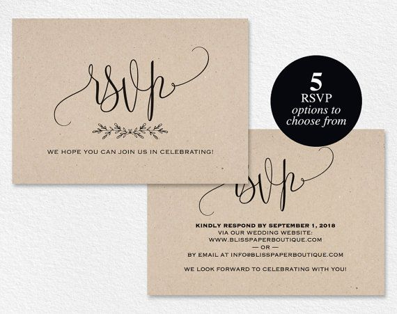 rsvp postcard rsvp template wedding rsvp by