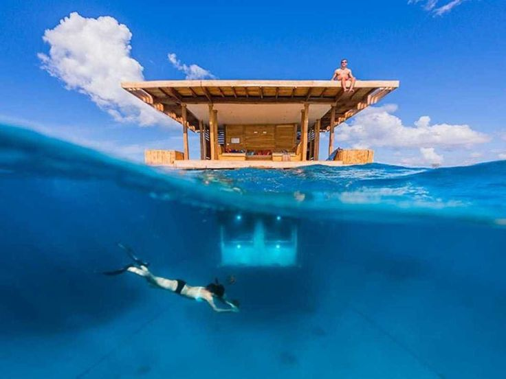 stay in the underwater room at the manta resort on pemba island off the coast of tanzania