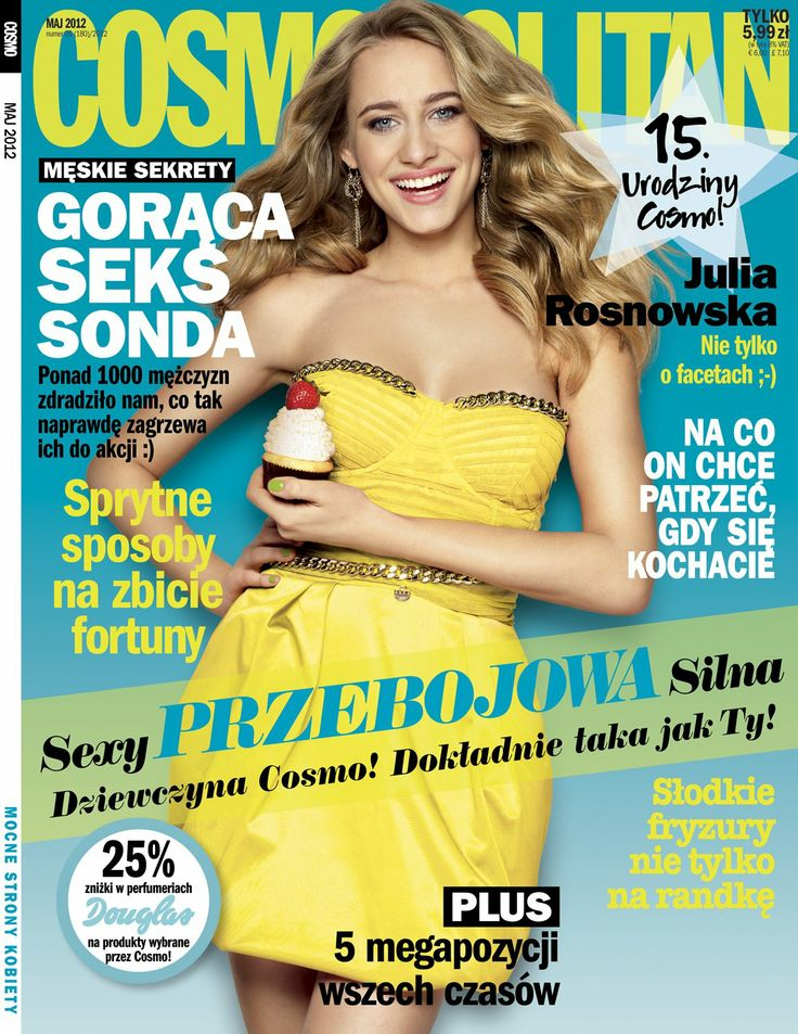 COSMOPOLITAN edycja polska / Julia Rosnowska / maj 2012  www.cosmopolitan.pl
