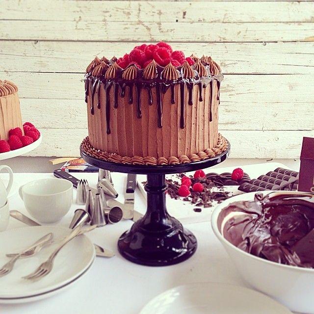 #Chocolate and #raspberry #cake #yummy