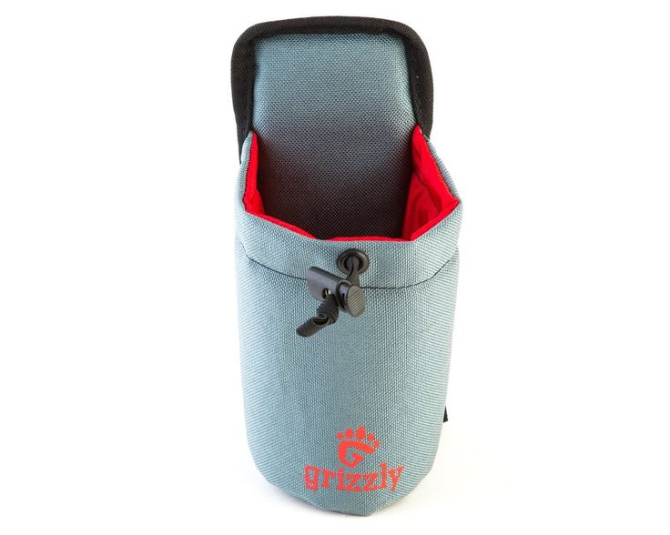 Grizzly Snake River Ghost Hunting Adjustible Water Bottle Holder (Gray) or Use for Hunting, Fishing, Hiking, Birding, Photography, Equipment, Tools and Meters for Attaching to Belts or Grizzly Dakota Utility Belt ** Remarkable product available now. : Hiking gear