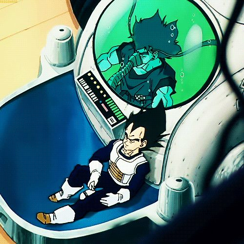 The Prince and the would be soldier taking a nap together, bubbly ^.^ Vegeta and Goku