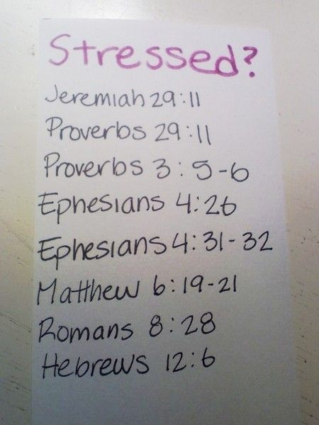 Scriptures to deal with stress