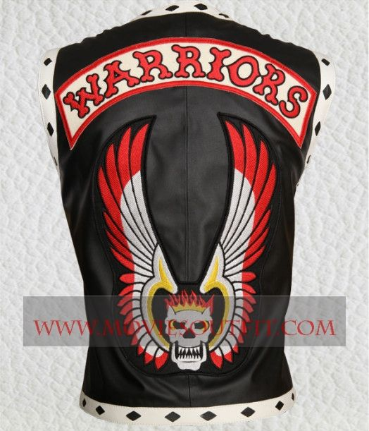 The Warriors Black Biker Leather Vest For street style available at MoviesOutfit.com #menswear #streetstyle #mensclothing #fashion #bikerclothing #vest #mensvest
