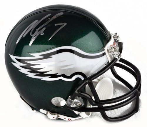 Michael Vick Signed Mini Helmet - Philadelphia Eagles - GA Certified - Autographed NFL Mini Helmets by Sports Memorabilia. $89.99. Michael Vick Signed Mini Helmet - Philadelphia Eagles - GA. We know that collectors value quality, and all of our pieces are high caliber. This is a good investment for any memorabilia collectoin since items like this tend to increase in value. Superb autograph quality. A piece like this is great; just look at Vick's stats and you'll see why he...