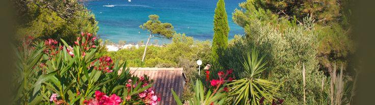 Camping & Pictures of the French Riviera. Camping Var (Côte d'azur) à Bormes les Mimosas - Camp du domaine
