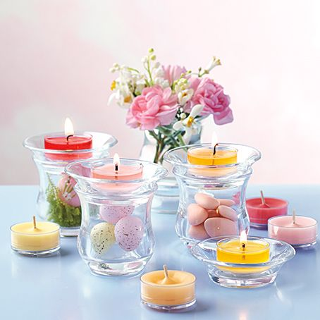 Plenty of fun to be had mixing and matching flipping and stacking with the clearly creative range from PartyLite, including these gorgeous Ultimate Votive Pairs!