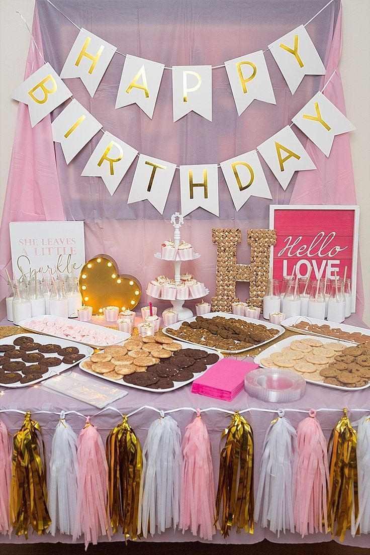 Milk and cookies? What a fun birthday party theme for my baby girl!