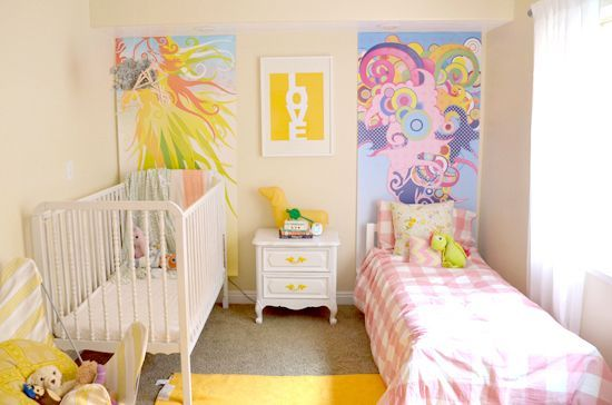 Habitaciones+compartidas+por+bebé+y+hermano+mayor.+Decoración+bebes.