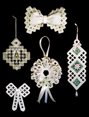 Hardanger Holiday Ornaments #3