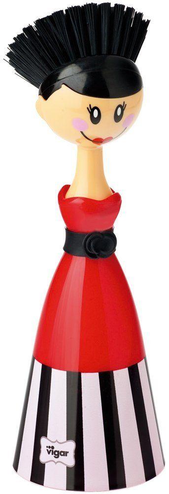 Vigar - Dolls Olivia Dish Brush Wdress: Amazon.co.uk: Kitchen & Home
