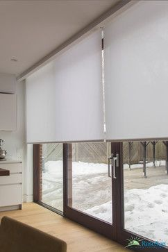 Motorized Blinds for Large Doors - modern - living room - toronto - RoseSun Motorized Window Treatments