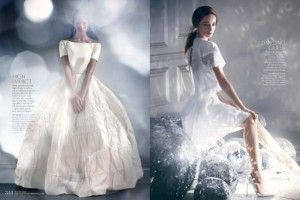 Radiant wedding dresses from Martha Stewart Weddings | see more on http://burnettsboards.com/2014/02/event-report-martha-stewarts-wedding-party/