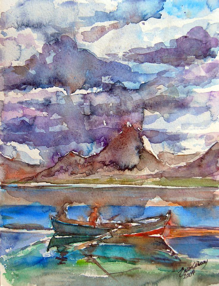 Watercolor on PAper  24cmx34cm Ercan GUNAY
