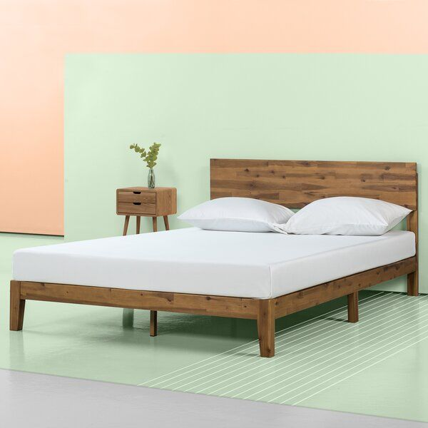 Marland Platform Bed In 2020 Wood Platform Bed Upholstered Platform Bed Platform Bed