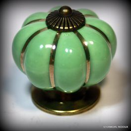 Green Pumpkin Shape Ceramic Drawer Knobs | Trade Me
