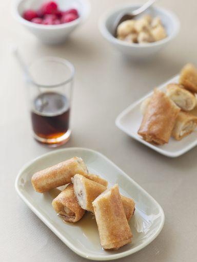 Croustillants de banane au gingembre - Recette de cuisine Marmiton : une recette