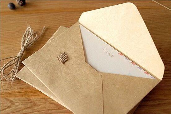 50 ШТ. НОВЫЙ Урожай Крафт DIY Многофункциональный конверт 16*11 см Подарочные конверты для свадьбы Крафт-бумаги конверт свадьбы