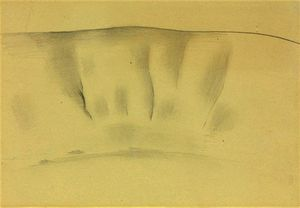 Grey wash forms - (Georgia O'keeffe)