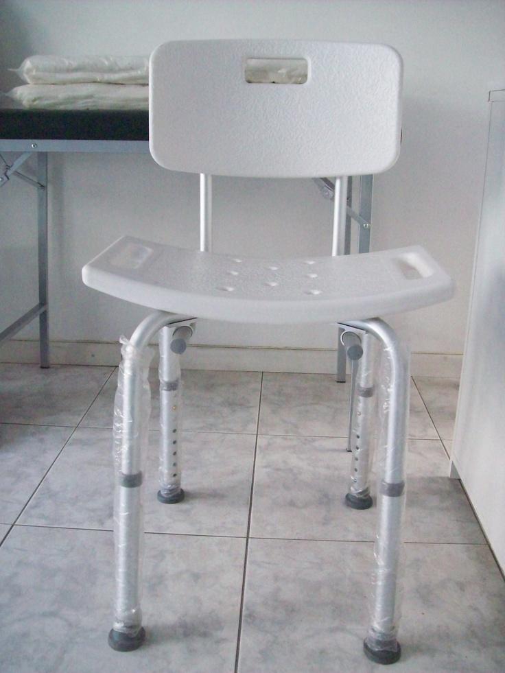 Silla para ducha de aluminio regulable en altura ayuda for Altura silla